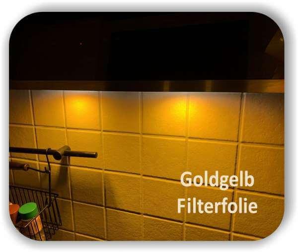Zuschnitt Warmlicht Goldgelb - Diffusorfolie - LED Farbfolien