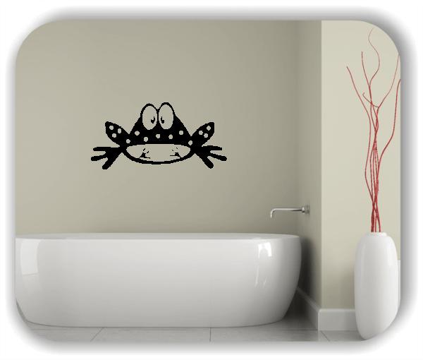 Wandtattoo - Frosch mit Blick nach unten