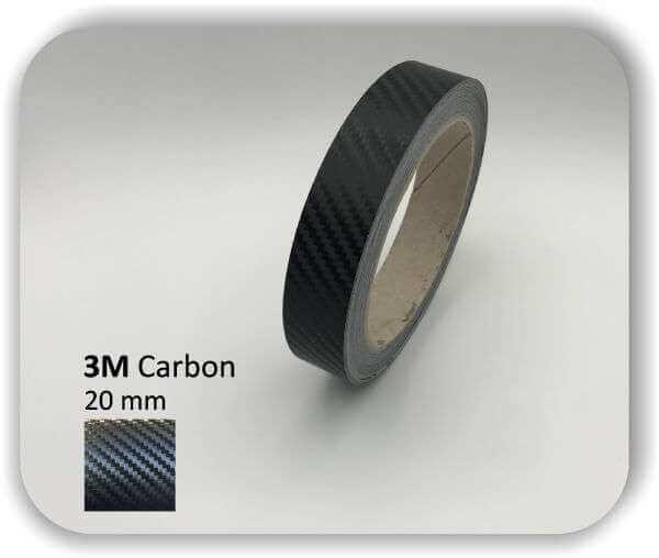 3M Zierstreifen Carbon Wrapping Folie 1080 3D-Folie 20mm für Auto Boot Motorrad