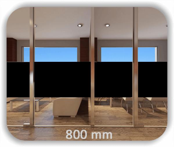 Durchlaufschutz Folie - Uni Farbig - Höhe: 80 cm - Streifen