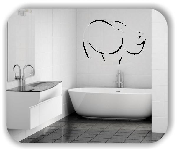 Wandtattoo - Tier Silhouette - ab 50x36 cm - Nashorn
