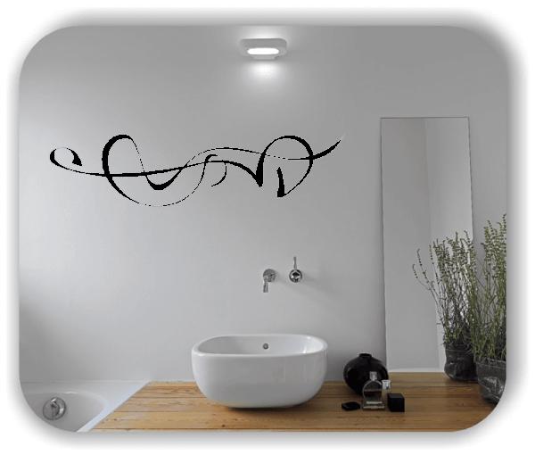 Wandtattoo - Schnörkel Design - ab 60 x 15 cm - Motiv 28