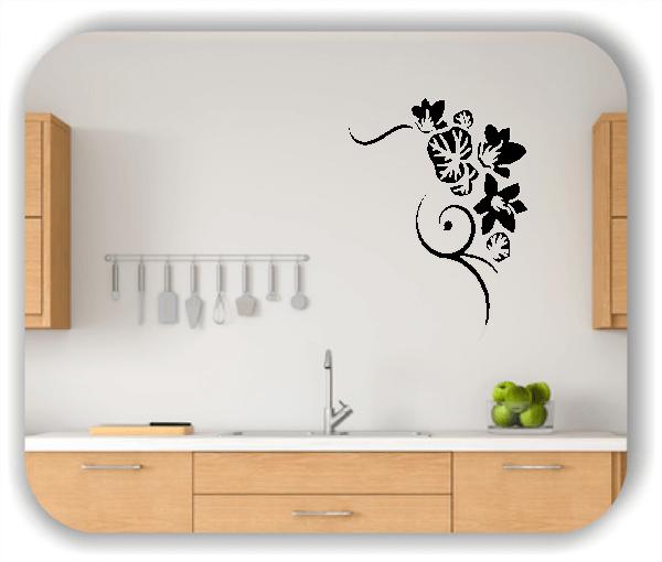 Wandtattoo - Florale Blumen & Blätter - Motiv 2858