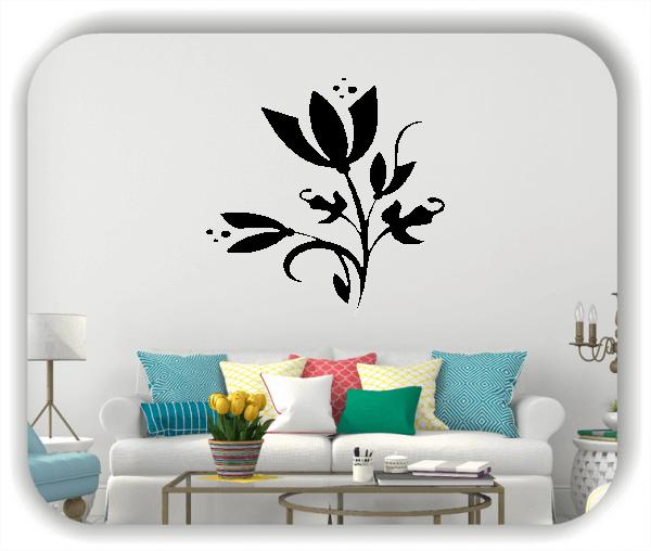 Wandtattoo - China Floral - ab 50x50 cm - Motiv 3159