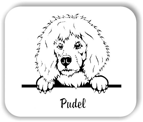 Wandtattoo - Hunde - Pudel Variante 2