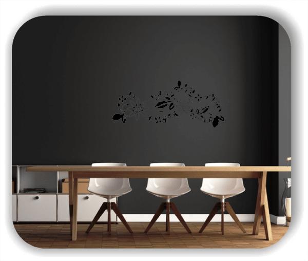 Wandtattoo - Florale Blumen & Pflanzen - ab 50x21 cm - Motiv 3006