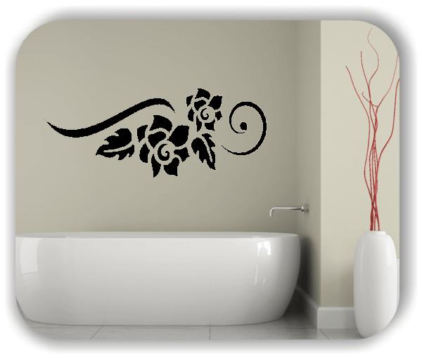Wandtattoo - Florale Blumen & Blätter - Motiv 2826