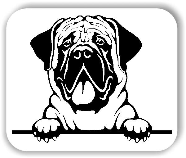 Wandtattoo - Hunde - Mastiff - ohne Rassename