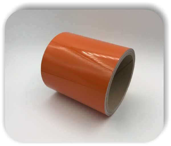 Boots Zierstreifen Reflektierend 150mm Orange Glanz Dekorstreifen