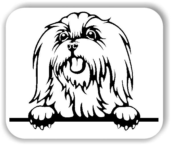 Wandtattoo - Hunde - Malteser 2 - ohne Rassename