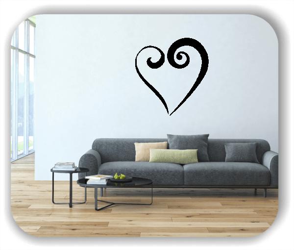 Wandtattoo - Offenes Herz