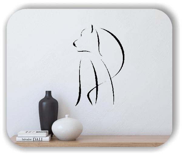 Wandtattoo - Tier Silhouette - ab 50x80 cm - Wolf