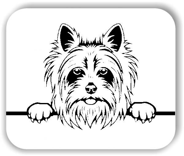 Wandtattoo - Hunde - Yorkshire Terrier Variante 4 - ohne Rassename