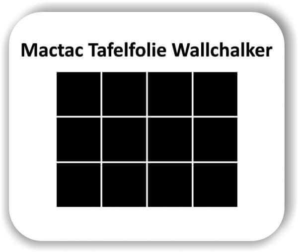 12 Stück 10 x 10 cm Tafelfolie Viereckig Wallchalker