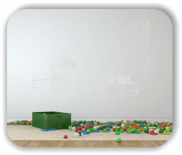 Wandtattoo - ab 50x34 cm - LKW Kran