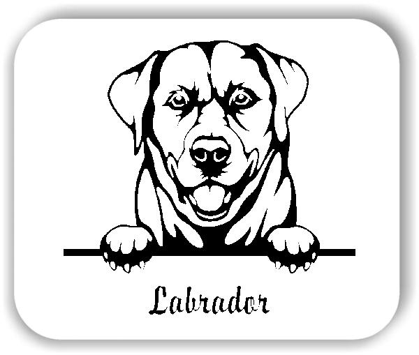 Wandtattoo - Hunde - Labrador Retriever Variante 2