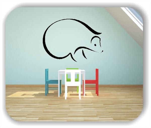 Wandtattoo - Tier Silhouette - ab 50x36 cm - Igel