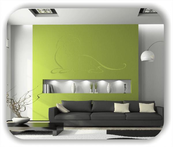 Wandtattoo - Tier Silhouette - ab 50x25 cm - Löwe
