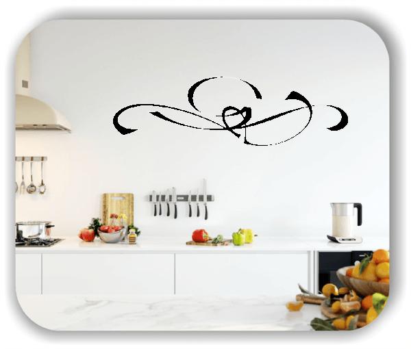 Wandtattoo - Schnörkel Design - ab 60 x 18 cm - Motiv 04