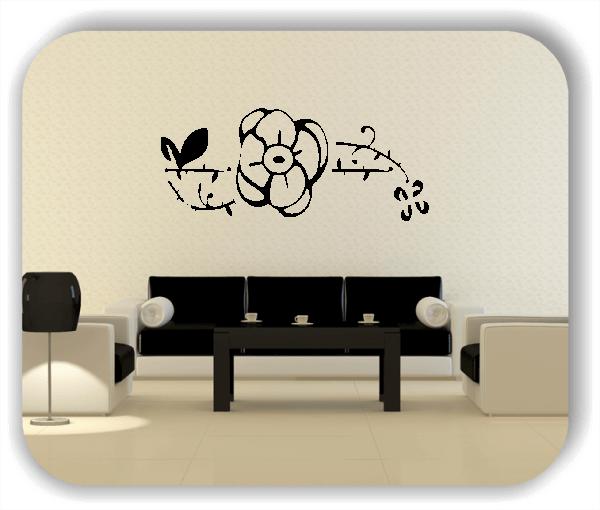 Wandtattoo - Florale Blumen & Pflanzen - ab 50x21 cm - Motiv 3001