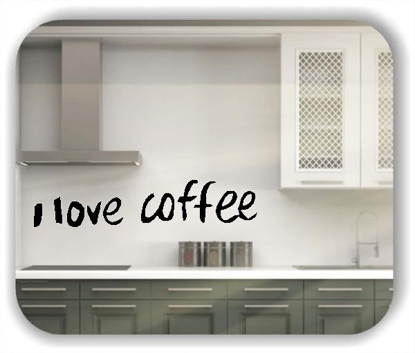 Wandtattoo - I love coffee