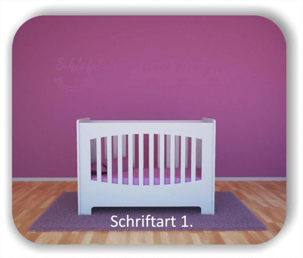 Wandtattoo - Schlafplatz für kleine Prinzessinnen
