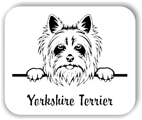 Wandtattoo - Hunde - Yorkshire Terrier Variante 2