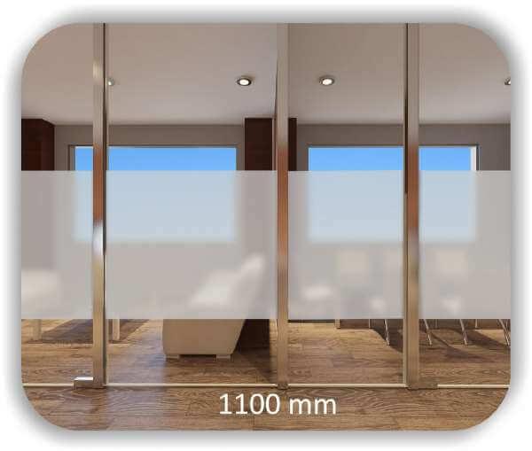 Durchlaufschutzfolie - Milchig - Höhe: 110 cm - Streifen