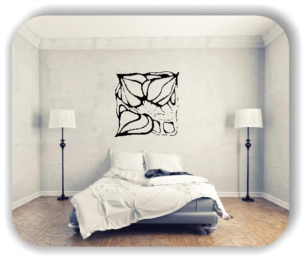 Wandtattoo - Quadratisch Florale Silhouetten - Motiv 31