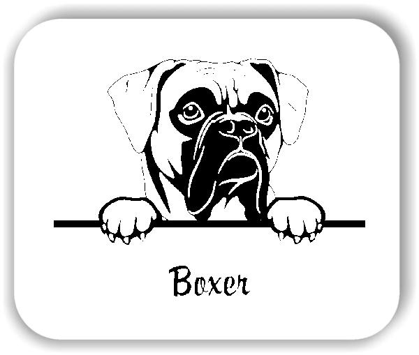 Wandtattoo - Hunde - Boxer Variante 1