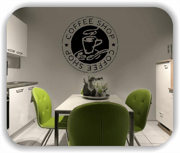 Wandtattoo - Coffee Shop mit Cappuccino Tasse