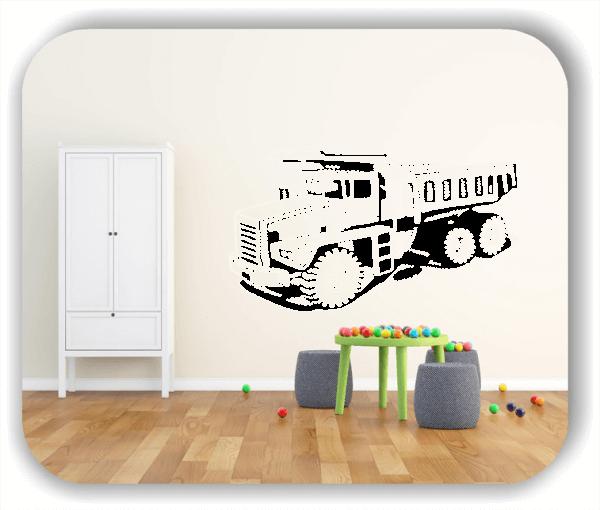 Wandtattoo - ab 50x28 cm - LKW Kipper