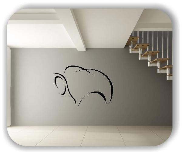 Wandtattoo - Tier Silhouette - ab 50x36 cm - Bison