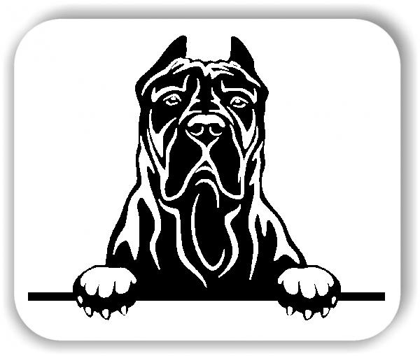 Wandtattoo - Hunde - Kanarische Dogge Variante 3 - ohne Rassename