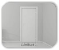 Türbeschriftung - Serverraum