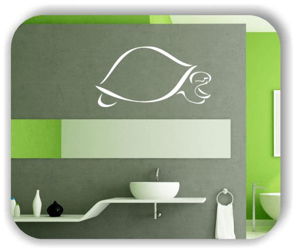 Wandtattoo - Tier Silhouette - ab 50x25 cm - Schildkröte