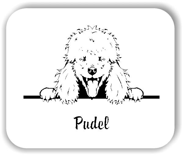 Wandtattoo - Hunde - Pudel Variante 1