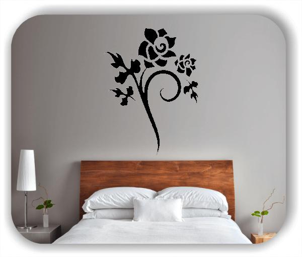 Wandtattoo - Florale Blumen & Blätter - Motiv 2861