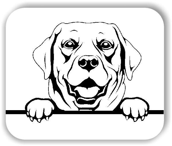 Wandtattoo - Hunde - Labrador Retriever Variante 3 - ohne Rassename