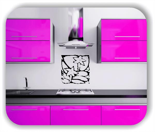 Wandtattoo - Quadratisch Florale Silhouetten - Motiv 16