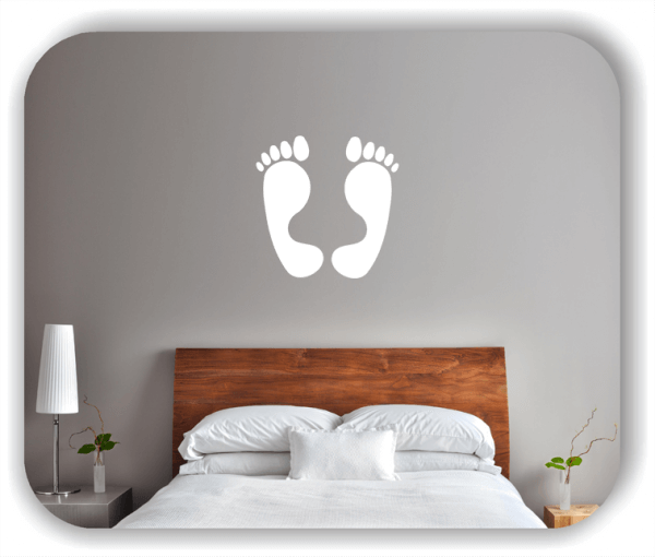 Wandtattoo - Große Füße