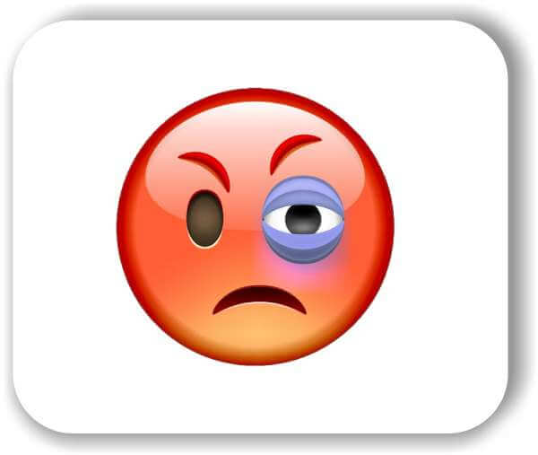 Strichgesicht - Wütendes Gesicht