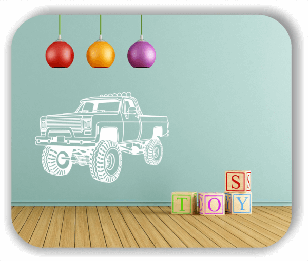 Wandtattoo - ab 50x34 cm - Amerikanischer Pick Up