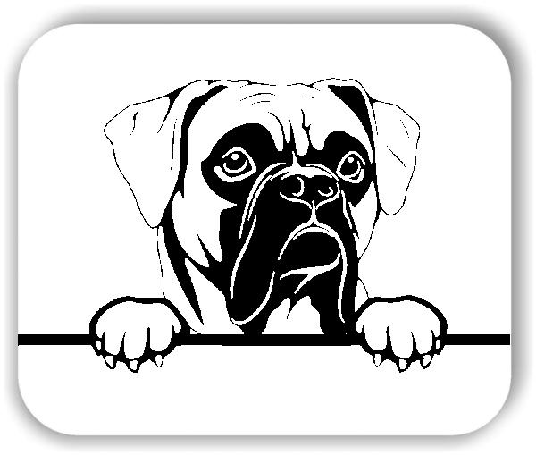 Wandtattoo - Hunde - Boxer Variante 3 - ohne Rassename