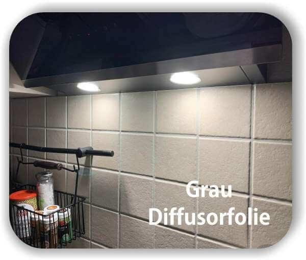 Warmlicht Grau - Diffusorfolie Zuschnitt - LED Filterfolie