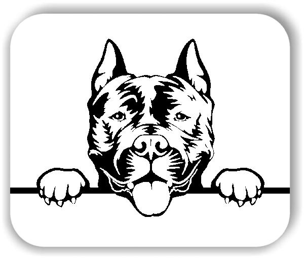 Wandtattoo - Hunde - American Staffordshire Terrier - ohne Rassename