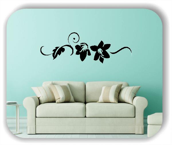 Wandtattoo - Florale Blumen & Blätter - Motiv 2811