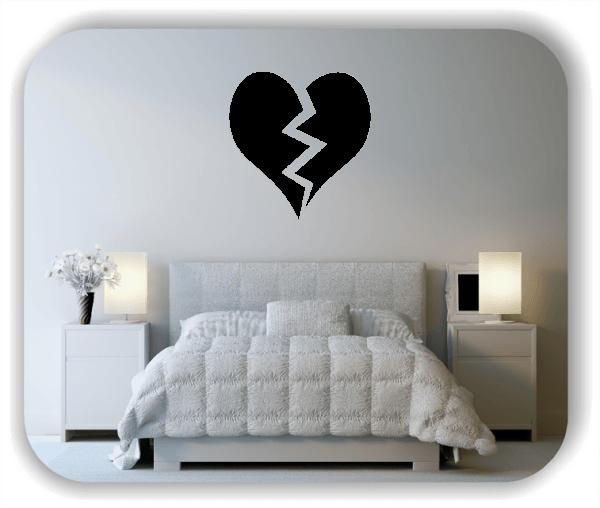 Wandtattoo - Gebrochenes Herz