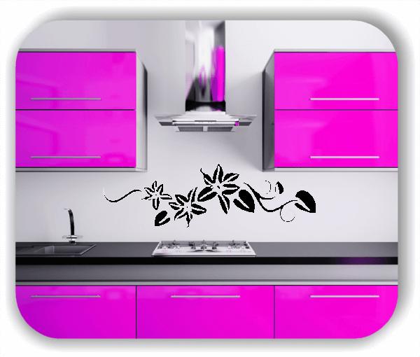Wandtattoo - Florale Blumen & Blätter - Motiv 2807