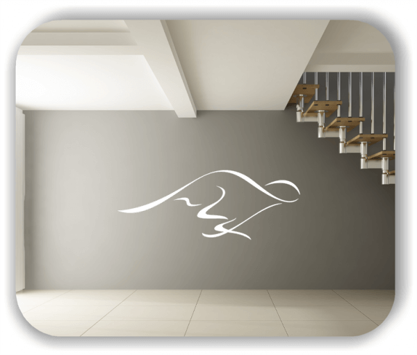 Wandtattoo - Tier Silhouette - ab 50x19 cm - Kängeruh